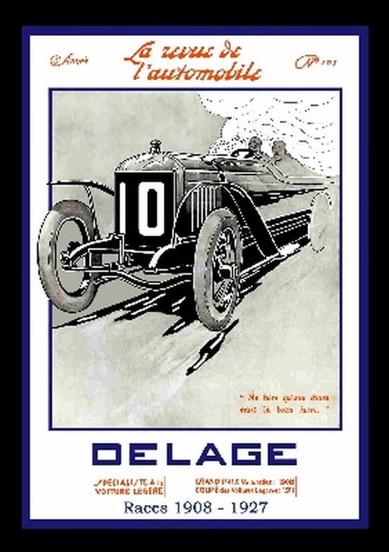 Delage Races 1908-1927 Book Soft cover
