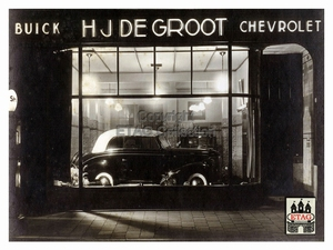 1938 Showroom Stationstraat 10-12 Tilburg (2) Buick
