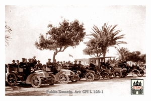 1902 Paris Nice Delahaye during stop