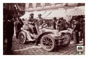 1902 Paris Nice Darracq Delisle Marcellin #17 Arriving Lyon