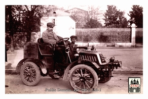 1902 Paris Nice Darracq M.Fugier # Arriving Draguignant