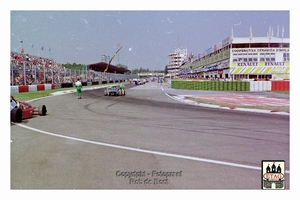 1992 Imola Italie Renault Daimon Hill #8 Line up start