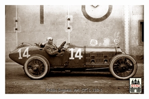 1921 Ballot Le Mans Louis Wagner #14 7th Paddock