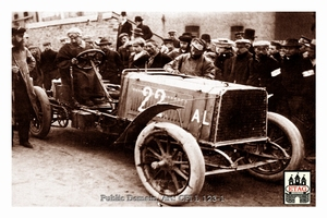 1904 Circuit Ardennes Darracq John Edmond #22 17th Paddock